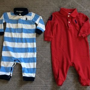 Ralph Lauren Rugby One-piece Coverall Romper Blue
